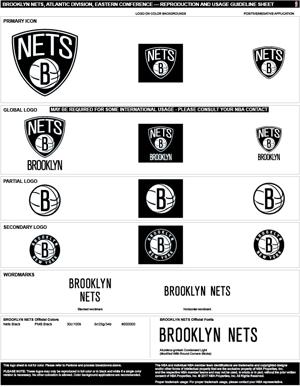 Brooklyn Nets Colors Sports Teams Colors U S Team Colors
