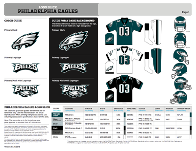 Philadelphia Eagles Colors Sports Teams Colors U S